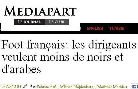 [Màj]: Moins de noirs et d'arabes en équipe de France de Foot. Lespreuves…