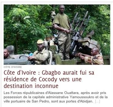 Côte d'Ivoire: Laurent Gbagbo délogé de sa résidence vers une destination inconnue…#CIV2010