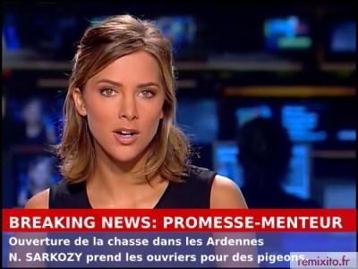 Promesse-Menteur: N. Sarkozy déclare ouverte la chasse auxpigeons!