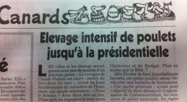 Démocratie au PS et, Elevage de poulets àL'UMP…