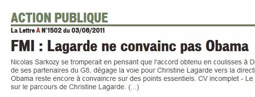 FMI: Christine Lagarde retoqué pour CV incomplet?…