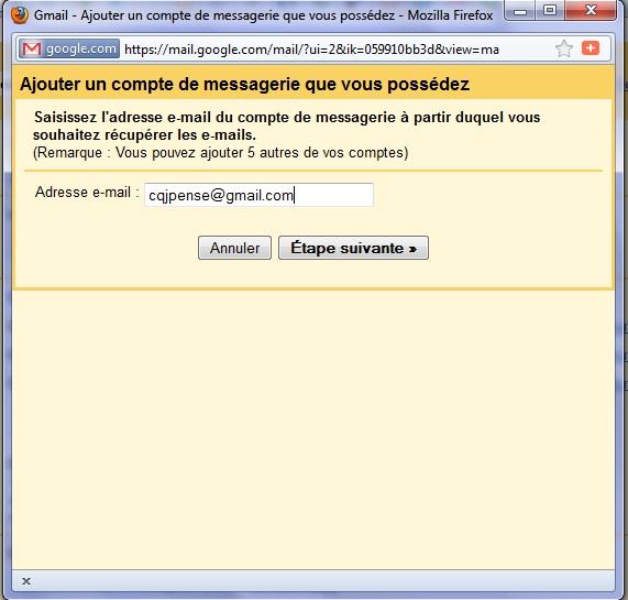 Gmail: Voici comment ''grouper'' plusieurs ''comptes Gmail'' en un seul... (4/6)