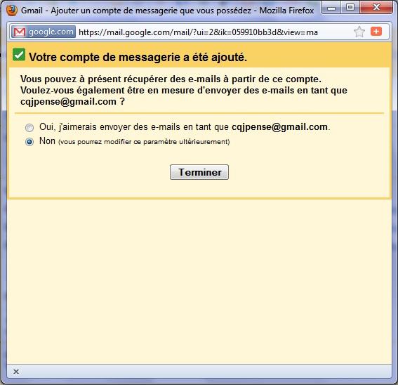 Gmail: Voici comment ''grouper'' plusieurs ''comptes Gmail'' en un seul... (6/6)