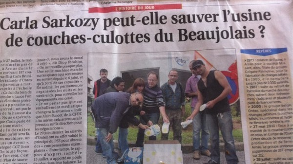 Opération ''des couches-culottes pour Carla Bruni Sarkozy''…