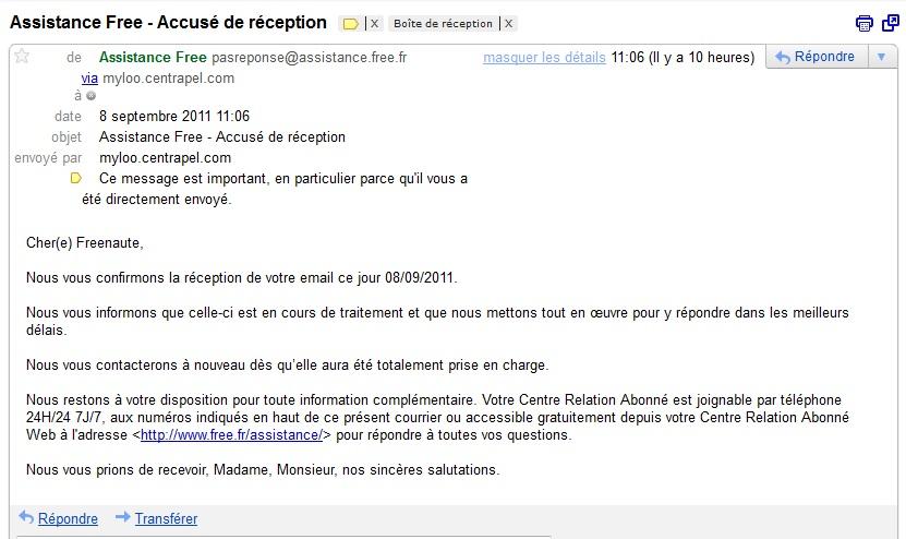 ecrire un email en francais