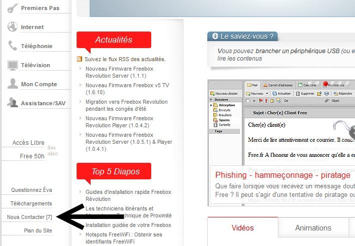 FreeBox: Voici comment contacter le service client free par Mail... (3/6)