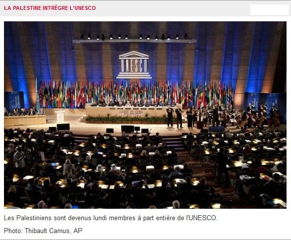 Palestine: Nouveau Membre à part entière de l'Unesco…