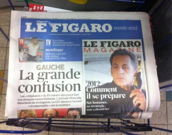 Le Figaro: Journal de campagne de l'UMP et de l'extrêmedroite?