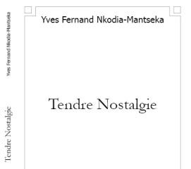 """Prix littéraire du blog: """"Tendre Nostalgie"""" de Yves Nkodia…"""