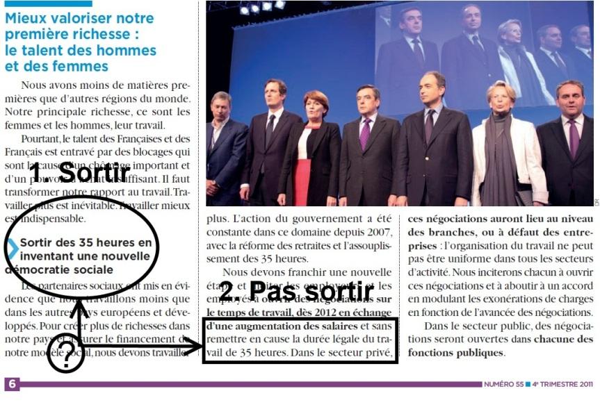 Le Projet 2012 de l'UMP> Fail sur les 35heures…