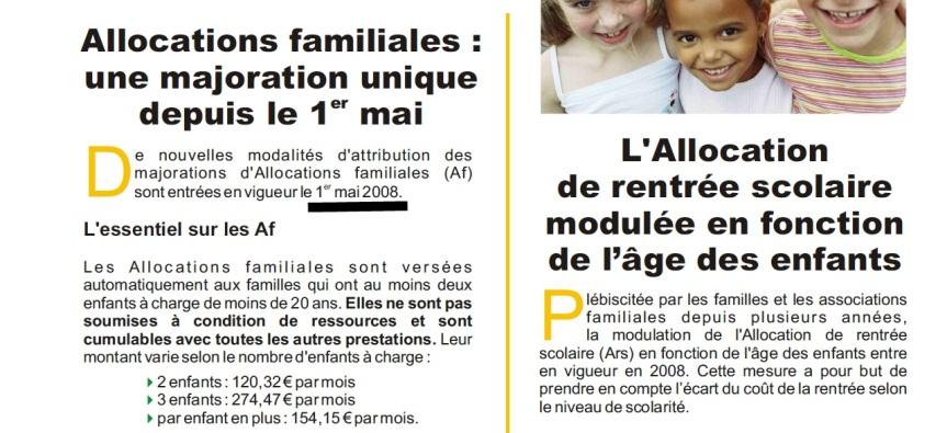 Décret 01 Mai 2008: Baisse des prestations familiales par NadineMorano…