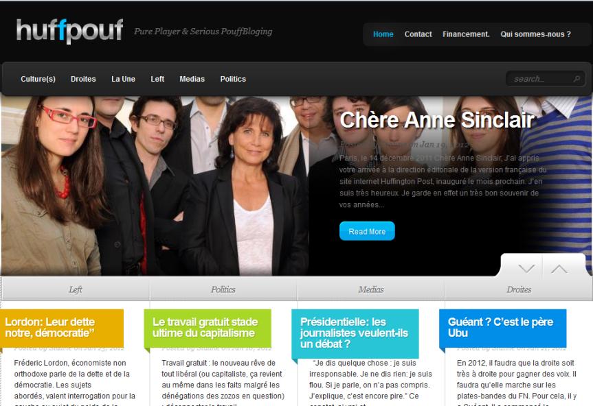 HuffingPouf.fr déjà à la UNE > Voila un lancementréussi…