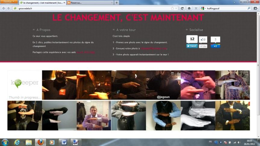 change@kweeper.com: Partagez vos photos du signe= »C'est Maintenant»