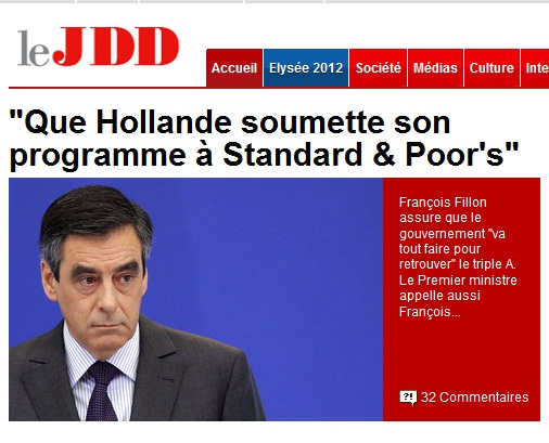 F. Fillon désavoué par ses services: Hollande jugé pluscrédible…