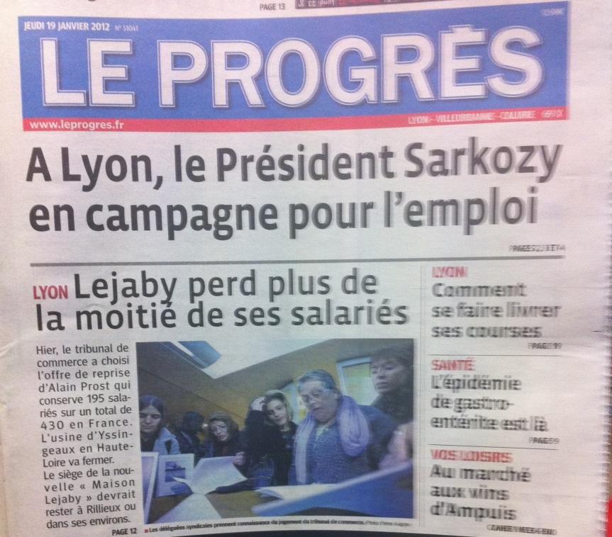 Lejaby: Et Sarkozy déshabille les usines françaises…