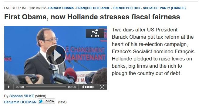 François Hollande, «H» for «Hope» > vu de l'étranger…