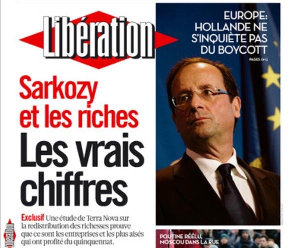 Sarkozy et les riches> Un bobiyet de Libération…