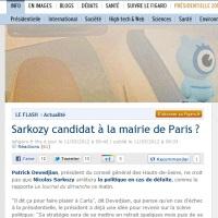 SCOOP: Sarkozy candidat à ... la Mairie de Paris !