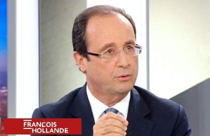 Le 1er grand oral de François Hollande face à lapresse…