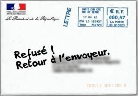 La lettre de Sarkozy > Déjà des «Retour à l'expéditeur»…
