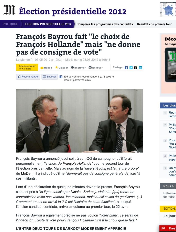 _Bayrou_François vote François_Hollande_ …