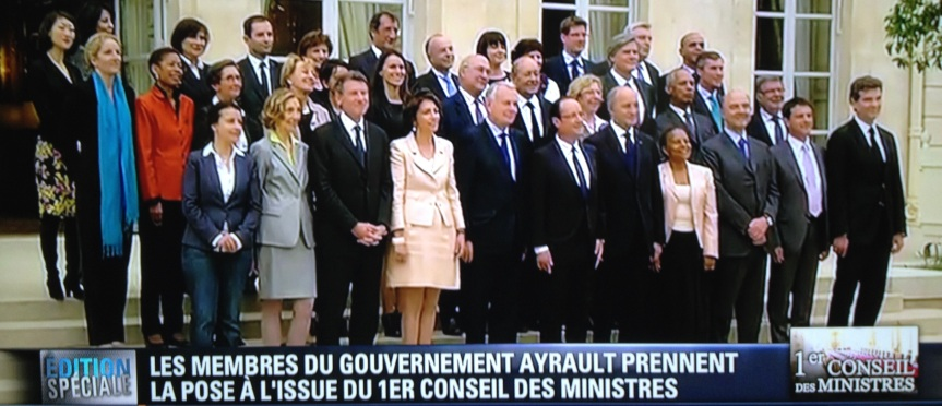 1er Conseil des Ministres> La photo dugouv.fr…