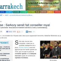 Nicolas Sarkozy: Conseiller spécial du Roi du Maroc?