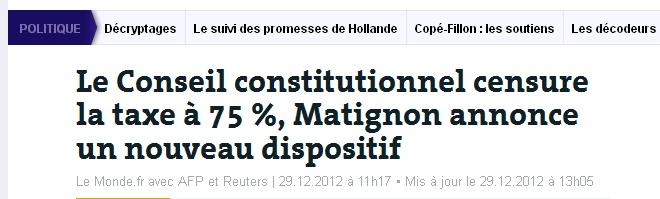 Taxe 75%