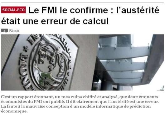 Le FMI admet qu'il n'existe pas de seuil critique de la dette publique Austc3a9ritc3a9-fmi-erreur