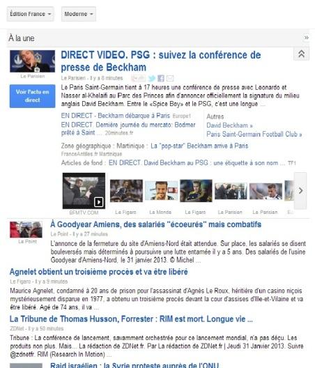 Google David Beckam