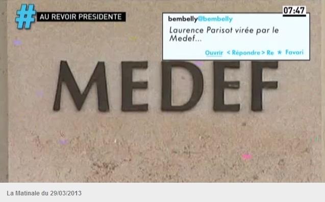 Laurence Parisot virée par le Medef