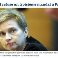 Laurence Parisot virée par le Medef...
