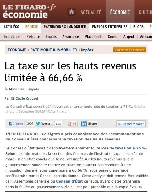 Taxe 75 Figaro