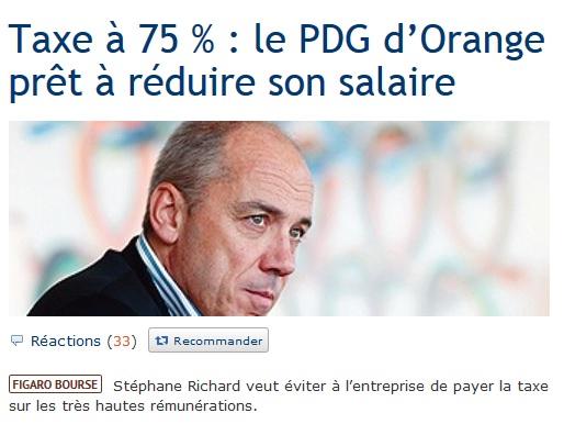 Orange Taxe 75%