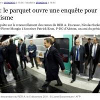 Sarkozy: Nouvelle enquête pour favoritisme à la RATP...