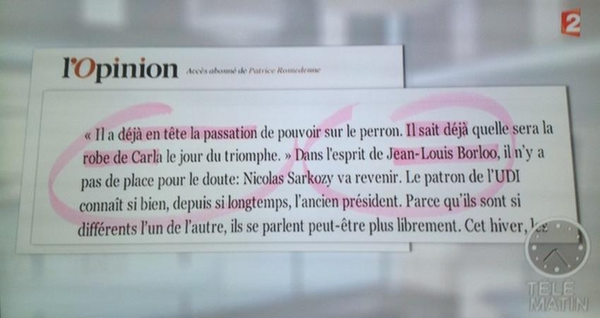 N. Sarkozy le retour? L'opinion-café de JL Borloo…