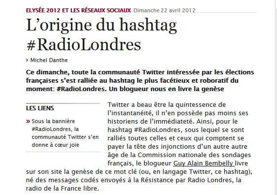 RadioLOndres letemps.ch bembelly