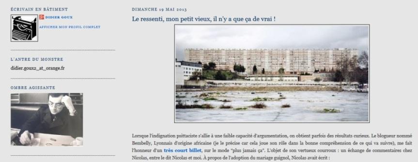 La réponse de Didier Goux