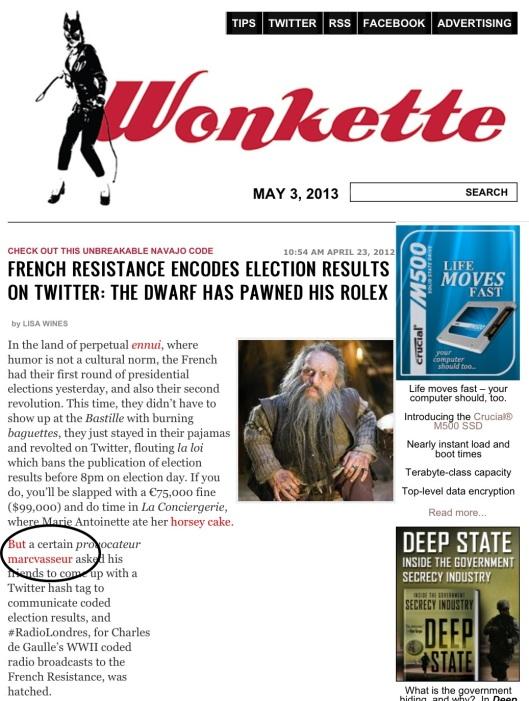 Wonkette RadioLondres