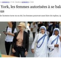 Femen et seins nus: Illégal en France?...