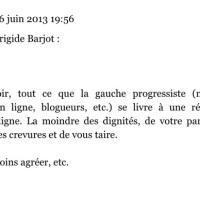 La réponse de Didier Goux à Frigide Barjot...