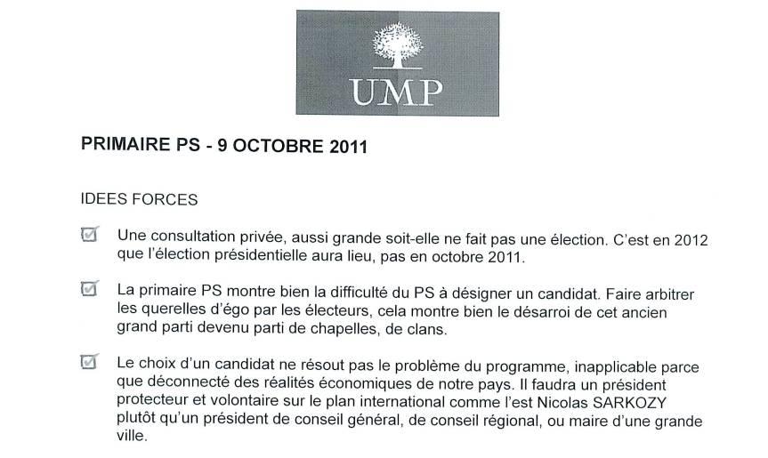 Primaire PS Critique UMP