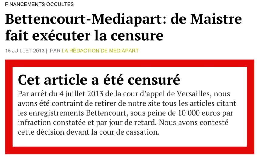 Censure Médiapart