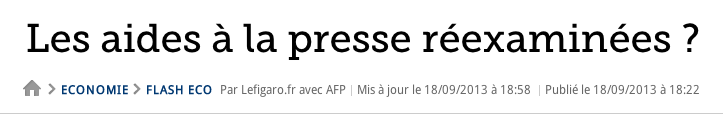 Aides presse Figaro