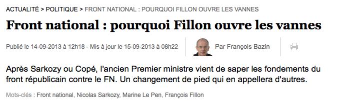 Front national : pourquoi Fillon ouvre les vannes