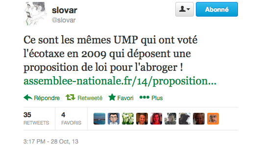 2cotaxe Sarkozy Tweet @slovar