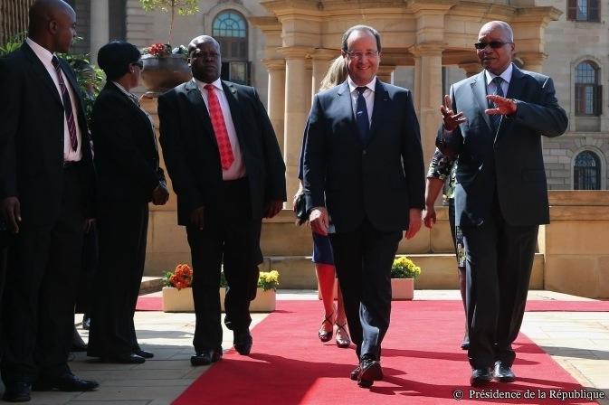 FRançois Hollande en Afrique du Sud