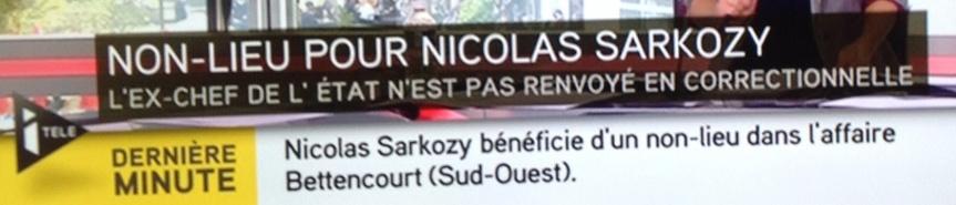 Non lieu pour Nicolas Sarkozy