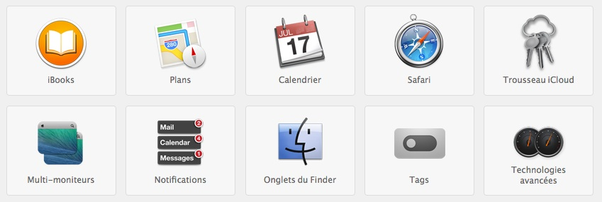 OS X Mavericks Nouveautés