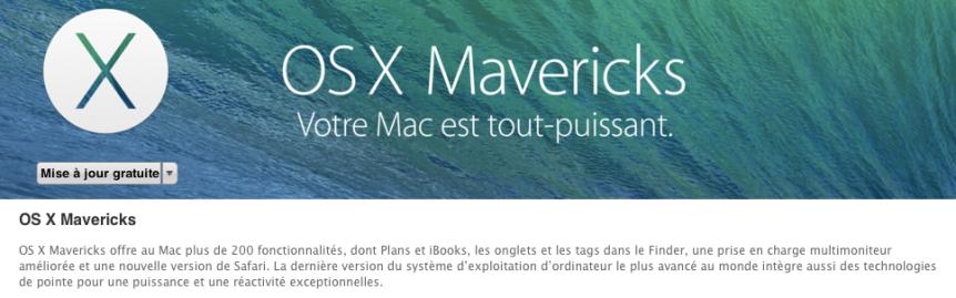 OSX Maveriks puissant